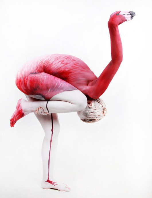 flamingo_body_painting_by_felixkelevra-d4r5u99